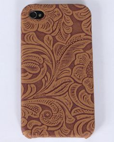 Faux Tooled Leather iPhone4 Case :: Purses-Wallets-Cellphone Cases-Key Chains :: Accessories :: Ladies :: Apparel :: Fort Western Online