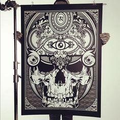 Hydro74 on Instagram #skulls #art