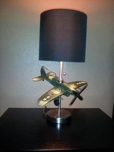 Vintage Airplane Lamp By Dbengaard On Etsy 65 00