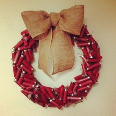 This is a Shotgun Shell wreath - there are all kinds of beautiful and unique wreaths from an article (in my opinion Southern Living style) written about holiday wreaths and some are beautiful!