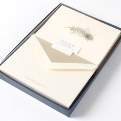 """Gorgeous """"thank you"""" cards for after an event! Peacock Engraved Notes Gift Set #PAPYRUS"""