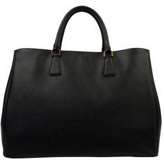 PRADA Large Saffiano Luxe Shopper ($1,715) ❤ liked on Polyvore