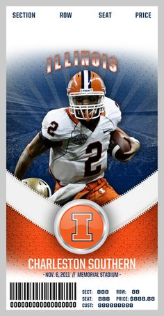2012 Illinois Football Poster Identity by Will Wyss, via Behance
