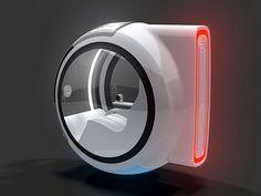 Volkswagen Hover Car. Ele sua energia eletromagnética para flutuar.
