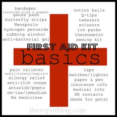 The V Spot: Give your First Aid supplies an Annual Check-up.