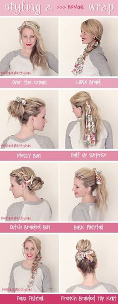 Styling a Wrap. Hairstyles | Twist Me Pretty