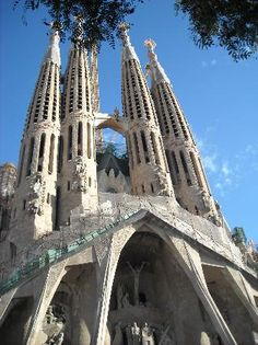 sagrada failia  bacelona spain  one picture could never cover the beauty of this cathedral designed by gaudi