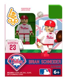 Brian Schneider - Philadelphia Phillies, Minifigure