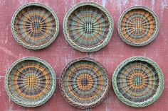 made by Katherine Lewis from farm grown basketry willows Willow Weaving, Basket Weaving, Potato Basket, Baskets On Wall, Wall Basket, Irish Potatoes, Rolled Paper, Newspaper Crafts, Woven Rug