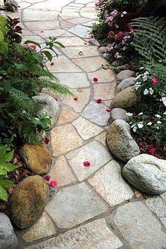 Jardin Flagstone Chemin                                                                                                                                                                                 Plus