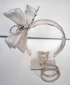 Ivory Wedding hair decoration accessory for the bride-looped flower petals on a headband headdress with beaded wired 'stamens' -made in UK. Bridal Wedding Shoes, Ivory Wedding, Crystal Beads, Crystals, Wedding Headdress, Satin Shoes, Hair Decorations, Bugle Beads, Lace Embroidery
