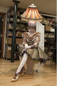 Whimsical Mannequin Lamps by MacKenzie-Childs - The Mannequin Madness . Mannequin Display, Mannequin Art, Dress Form Mannequin, Lamp Light, Light Up, Mackenzie Childs Inspired, Bohemian Furniture, Can Lights, Pretty Lights