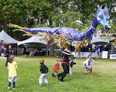 Dragon puppet at 50th Anniversary Festival. By jehvicvbc, via Flickr.