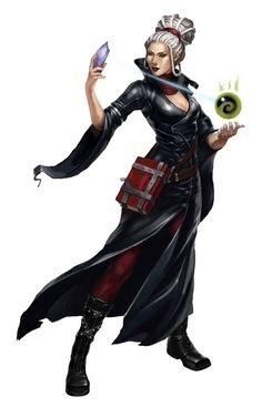 f Wizard Robes Magic Book crystal casting midlvl Female Old Human Wizard - Pathfinder PFRPG DND D&D d20 fantasy