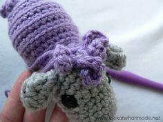 Front Curlicue Shorn the Crochet Sheep   a Little Zoo Animal