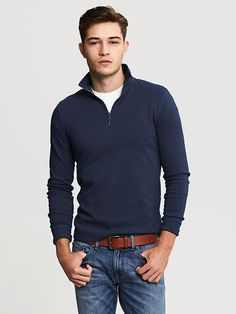 Banana Republic | Pop-Zip Pullover