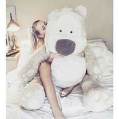 INSTAGRAM AND TUMBLR WE HEART IR BIG PLUSH BEAR JADE EDWARDS LOVE AND... ❤ liked on Polyvore featuring pictures