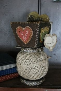 Wooly Sewing Box on String Holder www.rebekahlsmith.com
