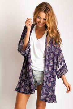 Arnhem Clothing Kamisha Kimono $146 via @Kate Mazur Mazur Mazur Mazur Mazur Mazur Mazur Zgoda Blue   @dressmeSue pins unique finds