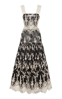 Karolina Lace-Embroidered Midi Dress by ALEXIS for Preorder on Moda Operandi Dress Outfits, Dress Up, Fashion Dresses, Prom Dresses, Looks Chic, Looks Style, Couture Dresses, Pretty Dresses, Dress To Impress