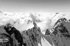 Descending from Piz Bernina by Christoph Oberschneider on Piz Bernina, Cloud Wallpaper, Ski Touring, Above The Clouds, Wall Murals, My Photos, Tapestry, Photo And Video, Instagram