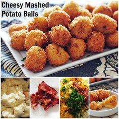 FUN RECIPE WORLD : Cheesy Bacon Loaded Mashed Potato Balls Recipe