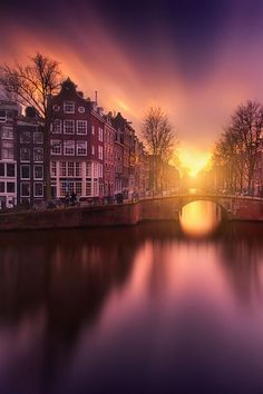 The Gate at sunset in Amsterdam, Netherlands