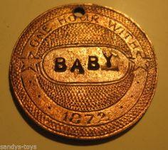 "1872 ""Baby"" The Stiffhorn Texas Saloon Brothel Token | eBay"