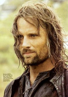 Aragorn is played by Viggo Mortenson. Sadly, he doesn't look like this in real life. If he did i would definitely marry him.