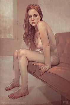 Nude Redhead Portrait by Paco Martinez