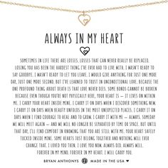 Shop Bryan Anthonys Always In My Heart dainty memorial in memory of necklace. The perfect necklace to remember your loved ones that you have lost. A reminder that they are forever in your heart and you will always carry them. Xxxtentacion Quotes, Life Quotes, Qoutes, Spirit Quotes, Deep Quotes, Wall Quotes, Wisdom Quotes, Motivational Quotes, Cluster Necklace