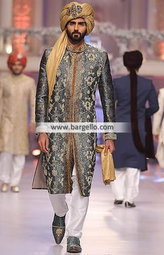 Exclusive Designer Menswear Sherwani in Jamawar