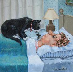 """Breakfast Surprise"" - Original Fine Art for Sale - © Joy Campbell"