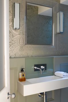 Amazing Shelgate Road   Granit Wall Hung Basin With Wall Mounted Tap, Back Painted  Glass Splashback Photo Gallery