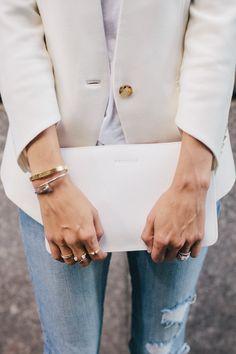White blazer.