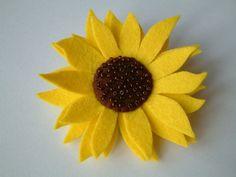 Brooch Felt  Sunflower by MichelleGood on Etsy, £8.50