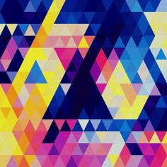 Jewel tone triangles