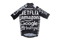 A maximalist, multi-material race fit, short-sleeve cycling jersey with ultra light mesh side panels. Covered in logos, this is the second edition of the popular hilarious Idiocracy Jersey by God & Famous in New York City. Cycling Outfit, Cycling Clothing, Cycling Jerseys, Low Key, Apparel Design, Comebacks, Sayings, Mens Tops, Track