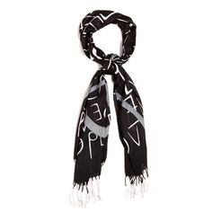 https://thebohemiantrunk.kitsylane.com/index.php?file=pick_detail=1925 Peace and Love in the scarf print! How cool is that? Cater to your inner flower child while showcasing your contempo style with the Joanie Black fringed scarf. The super-soft cotton blend will keep you warm and stylish all year round. Found it on the bohemian trunk