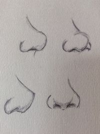 Nose practice, looks a bit dodgy XD More