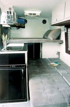 90 RV Living & Camper Van Storage Solution Ideas June Leave a Comment If you're looking for some RV storage ideas for your camper kitchen, look no further! In order to implement this clever Rv storage idea hack, simply fnew your Sprinter Camper, Vw Lt Camper, Diy Camper, Rv Campers, Camper Trailers, Travel Trailers, Happy Campers, Iveco Daily Camper, Combi Wv