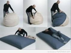 cordaroys! bean bag with a bed inside. how cute