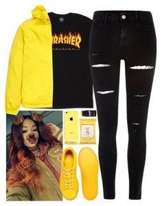 """""""Thrasher"""" by mncx1 ❤ liked on Polyvore featuring adidas, River Island, H&M and Burt's Bees"""