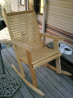 Homemade outdoor rocking chair