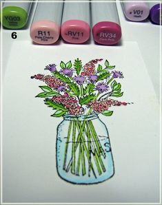 Coloring Wildflowers with Markers