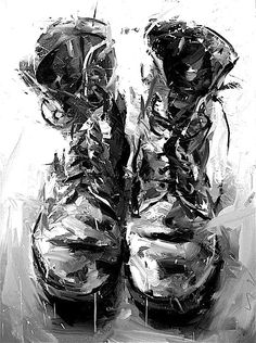 Studio Boots | Paul Wright...........cool paint texture/style
