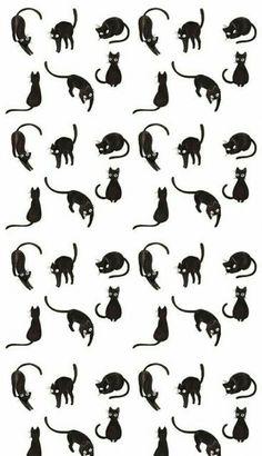 New Ideas Wallpaper Ipad Cat Black - Funny Animals Wallpaper Gatos, Cat Wallpaper, Pattern Wallpaper, Black Wallpaper, Tumblr Backgrounds, Phone Backgrounds, Wallpaper Backgrounds, Wallpaper Lockscreen, Black Cat Art