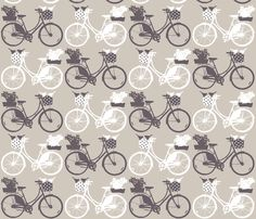 bicycles fabric by katarina on Spoonflower - custom fabric