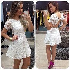 Guipir lace dress Casual Summer Dresses, Dresses For Teens, Cute Dresses, Short Dresses, I Dress, Lace Dress, Party Dress, White Dress, Elegant Outfit