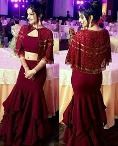 Vestido de grife com design superior - Latest Dresses/Kurti Collection - Party Wear Indian Dresses, Indian Wedding Gowns, Designer Party Wear Dresses, Indian Gowns Dresses, Indian Fashion Dresses, Dress Indian Style, Indian Designer Outfits, Party Dresses, Wedding Dress
